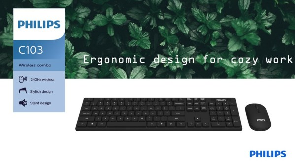 Philips Wireless Keyboard and Mouse