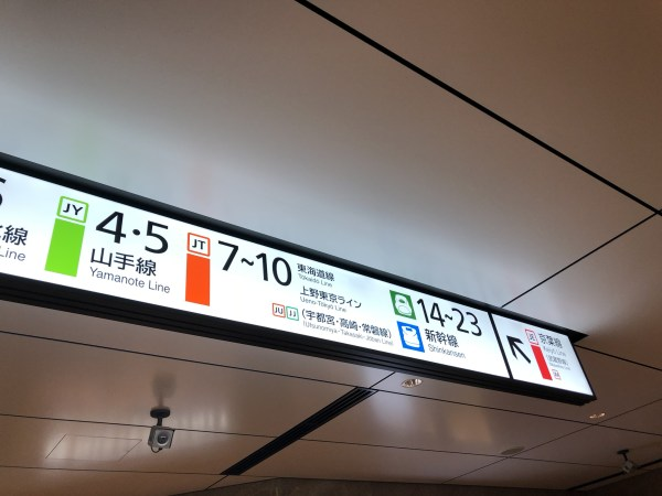 東京駅の看板