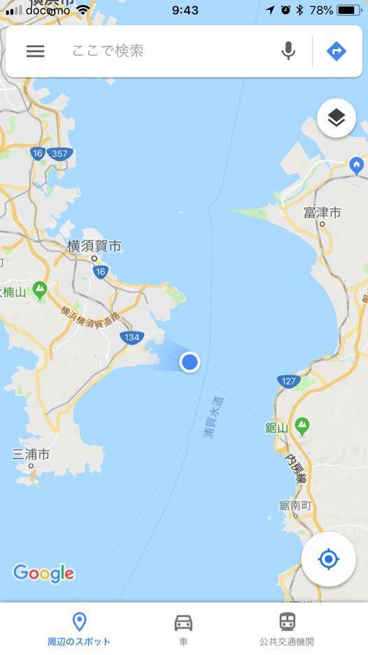 東京湾フェリーの航路