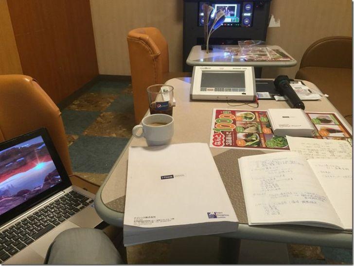 JOYSOUND個室テーブルで勉強