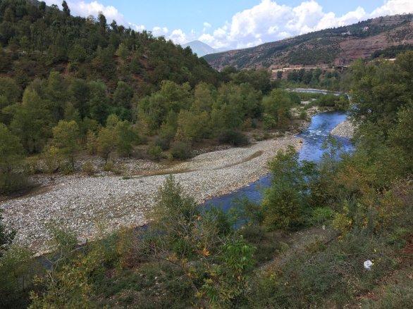 On the way to Elbasan, Shkumbini river.