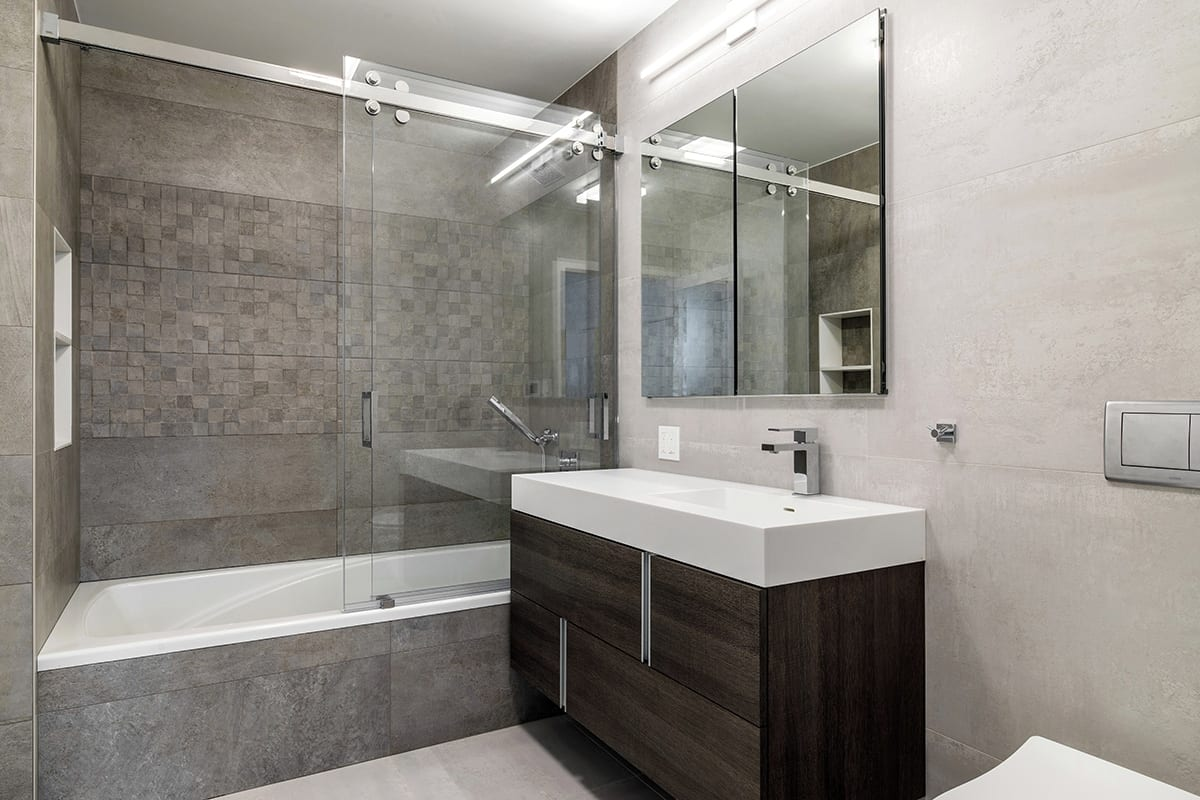 Adding A Bathroom To An Apartment in NYC · Fontan Architecture on Apartment Bathroom  id=34876