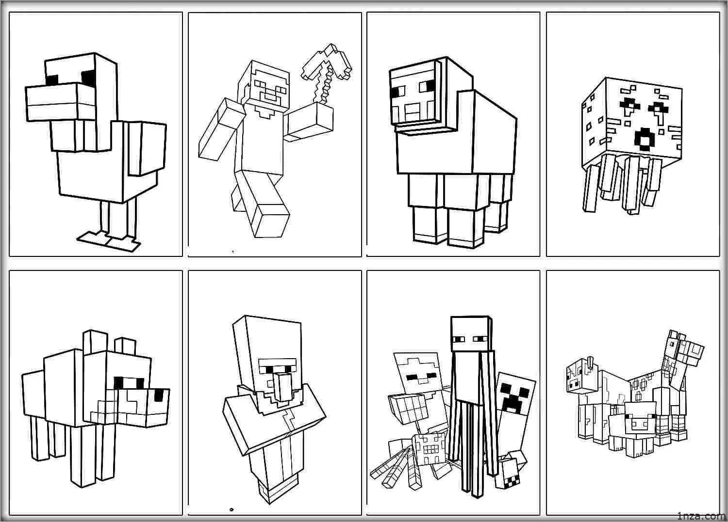 Minecraft Animals To Coloring Pages   Blog Coloring Pages Community