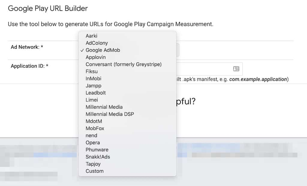 Google Play URL Builder