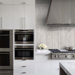 Modern Light Gray Subway Backsplash Tile Contemporary Design