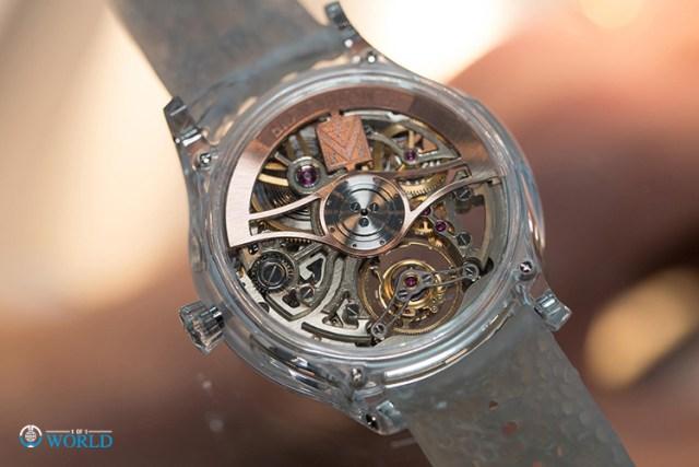 H. Moser & Cie Venturer Tourbillon Dual Time Sapphire Skeleton