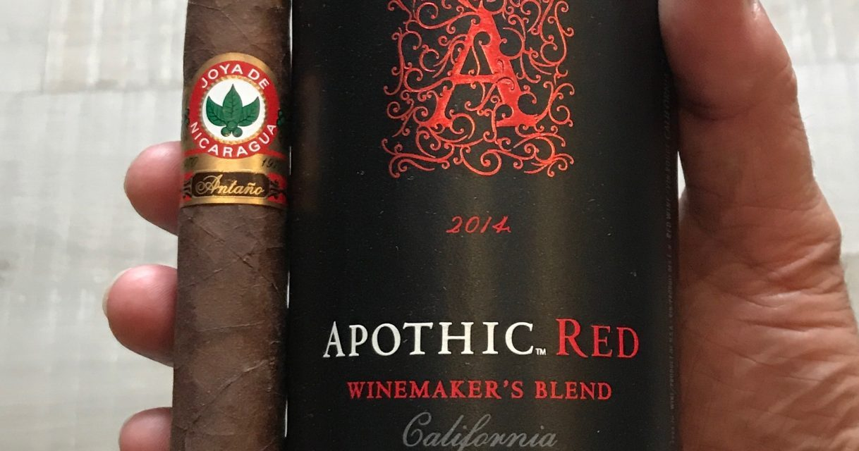 Joya de Antaño 1970 Nicaragua and Apothic Red wine