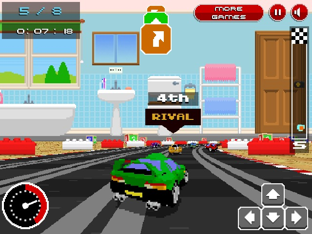 Retro Racers 3D annular driving game mini cars Online Free Games Retro Racers 3D annular driving game mini cars image play free