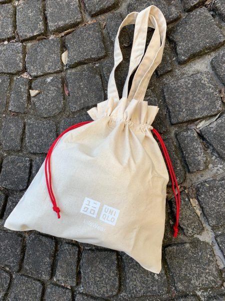 ユニクロ ギフトバッグ,ユニクロ 巾着トート,ユニクロ エコバッグ