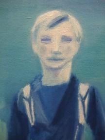 Closeup of Wade's painted face