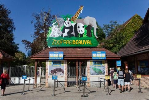 Entrée du Zoo parc de Beauval