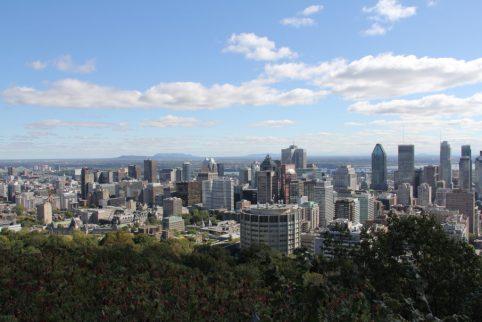 Vue du Mont Royal sur Montréal