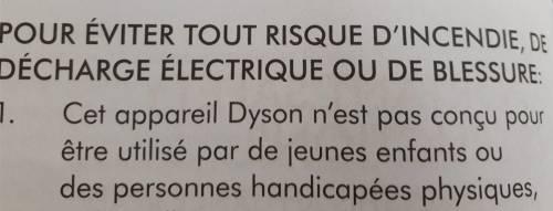 Objets handi-friendly notice dyson