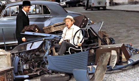 Accident de voiture Le Corniaud