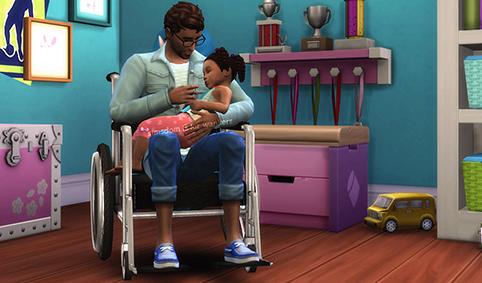 Grandir avec un parent en fauteuil
