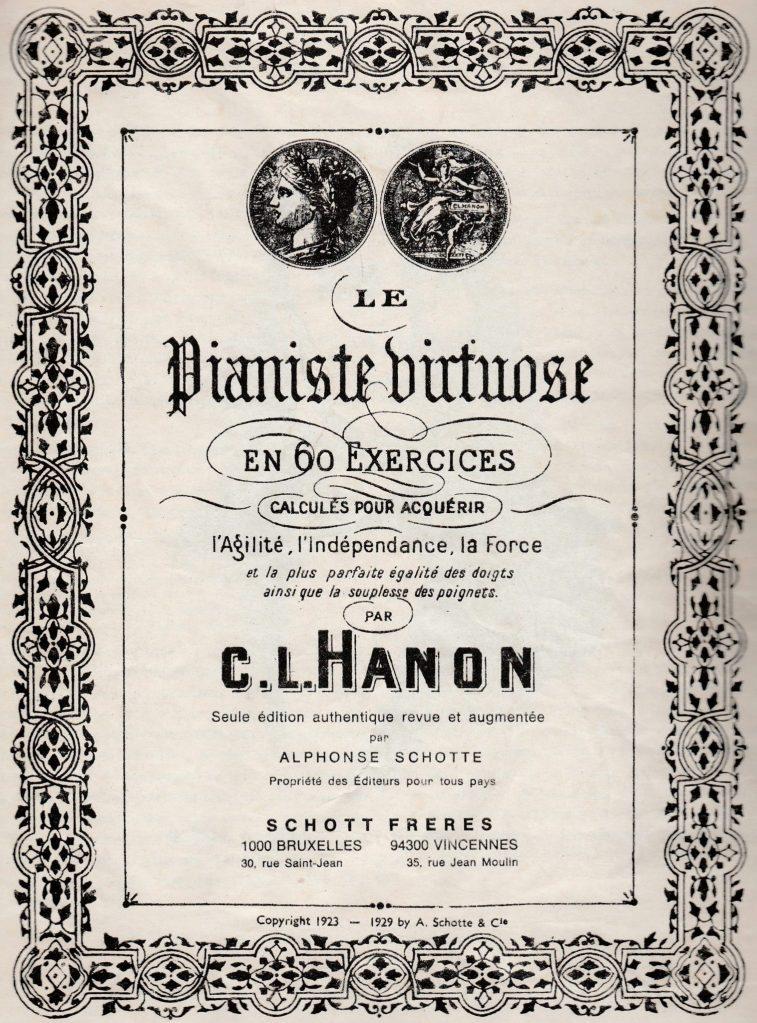 Le pianiste virtuose, le célèbre recueil de Hanon