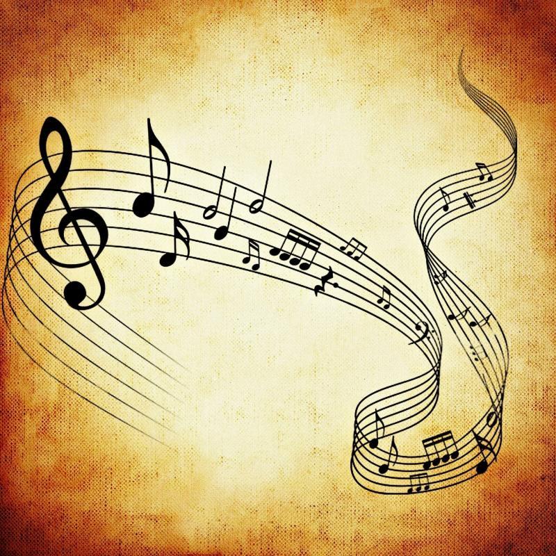 Portée musicale avec notes de musique