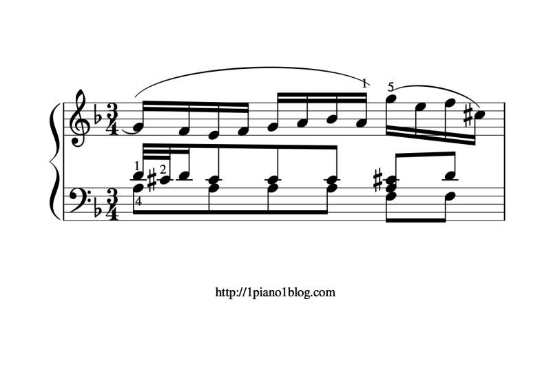 Bach, Marcello ornementations mesure 31