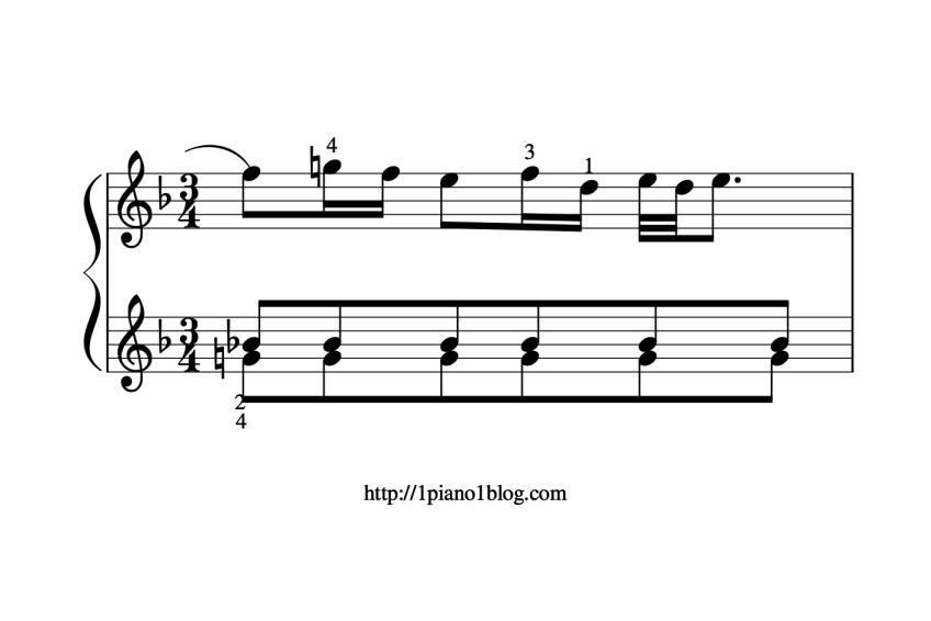Bach, Marcello ornementations au piano