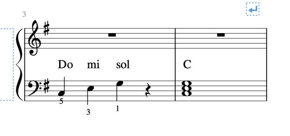 L'accord de DO Majeur au piano