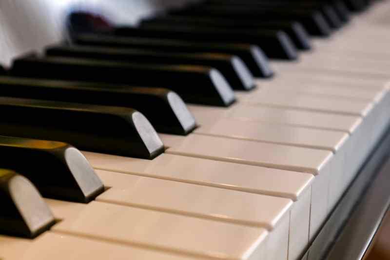 Les touches d'un clavier de piano