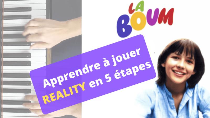 Apprenez à jouer Reality avec 1piano1blog