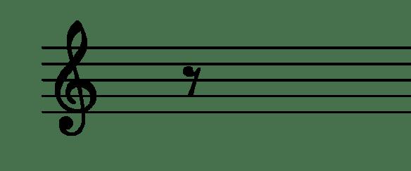 le symbole du demi-soupir