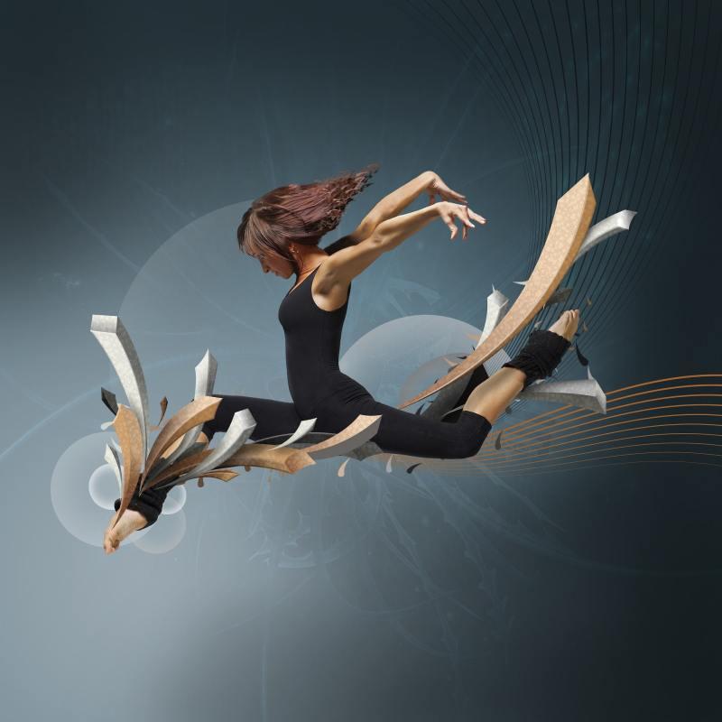 Danseuse souple, grand écart
