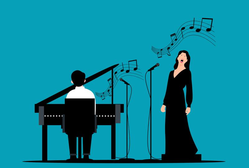 pianiste accompagnateur avec une chanteuse