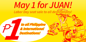 PISO FARE 2014 by Cebu Pacific for June, July, August, September, October, November to December