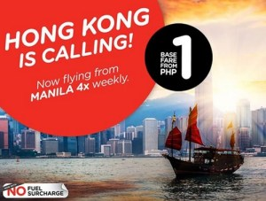Air Asia Zest PISO FARE to Hong Kong