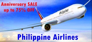 Philippine Airlines up to 75% OFF on 75th Year Anniversary for 2016 and 2017