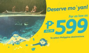 2017 Cebu Pacific Promo Fares Domestic and International – As low as P599!
