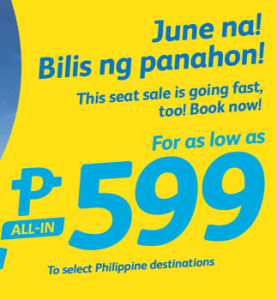 Cebu Pacific Air Promo 2016: June, July, August, September Low Fare