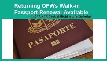 Dfa Baguio Passport Application Form, Returning Ofws And Seafarers No Need For Online Passport Appointment At Dfa Ncr Central, Dfa Baguio Passport Application Form