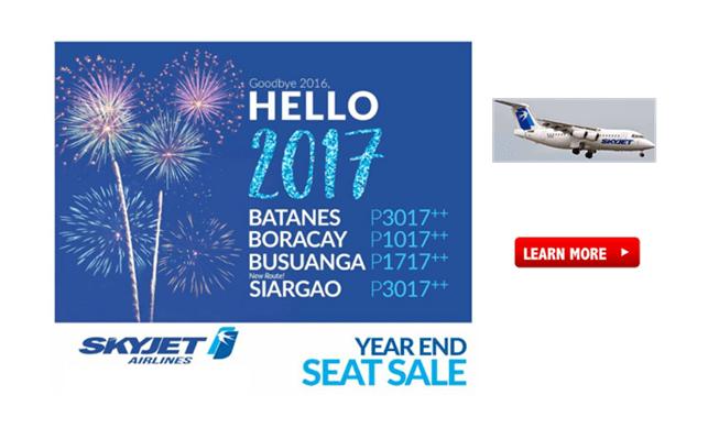 SkyJet Batanes Siargao Boracay Busuanga Promos 2017