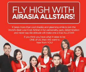 2017 Air Asia Male and Female Cabin Crew Hiring