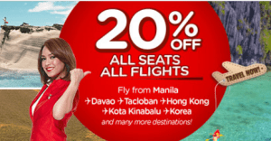 Air Asia 20% Discount Promo Fare