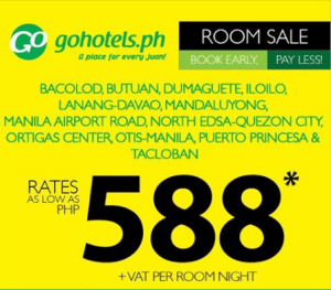 Go Hotels Room Promo 2017: ALL Branches Nationwide on SALE