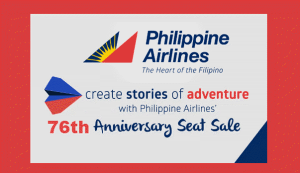Philippine Airlines 76th Anniversary Seat Sale Promo