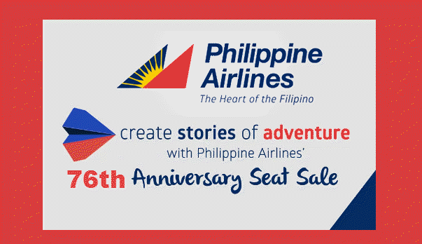 PAL 76th Anniversary Seat Sale Promo
