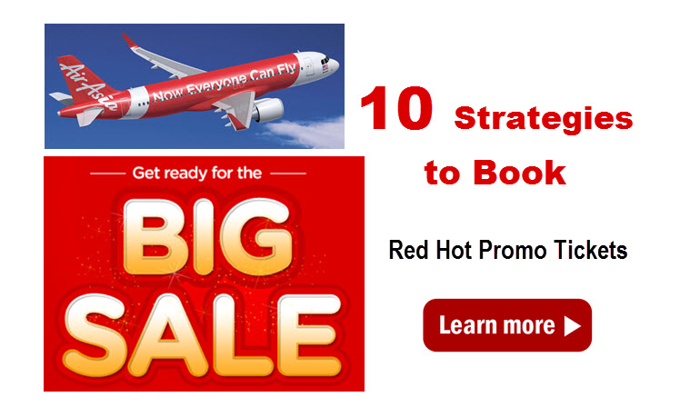 air asia red hot sale strategies to book