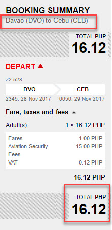 red hot sale ticket promo davao to cebu
