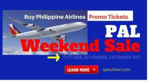 Philippine Airlines Weekend Sale for October, November, December 2017 Flights