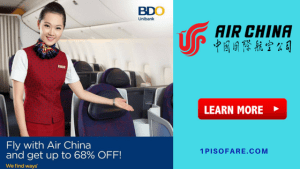 AIR CHINA Promo Fare via BDO Debit and Credit Cards