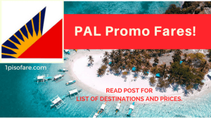 Philippine Airlines Promo Fares for October, November, December