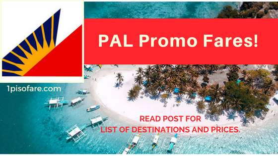 PAL promo fare october up to december