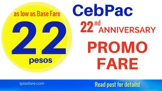 cebu pacific 22 pesos promo