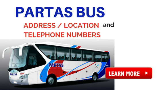 partas bus location telephone numbers