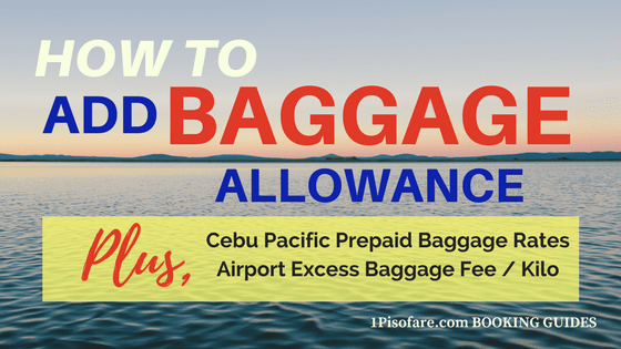 2019 Update] Cebu Pacific HOW TO ADD BAGGAGE via Manage